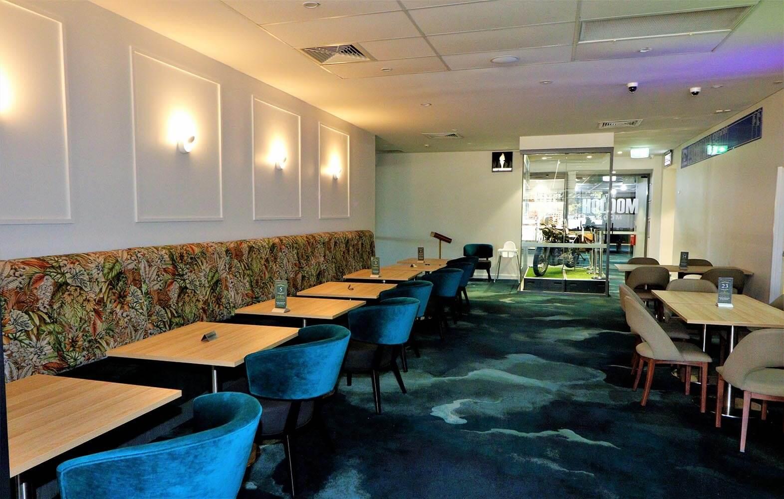 Inside the Bridgeview Restaurant